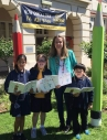Ardoch Ambassador and 'Writer in Residence' Emma Bowd with students of Sunshine Primary School at the launch of their co-authored storybook, 'Pencil Pandemonium'.