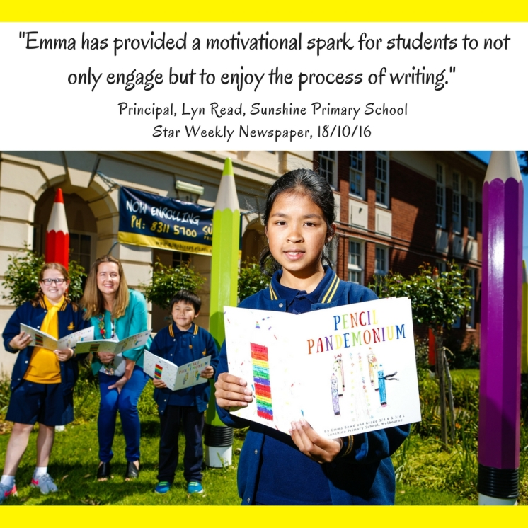 Star Weekly Newspaper Article - Emma Bowd 'Writer in Residence' Sunshine Primary School
