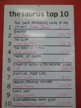 Thesaurus Books Top 10 - ABC Bookstore, Brighton, VIC