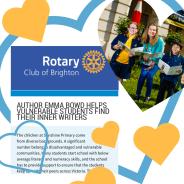 Rotary Club of Brighton congratulates local author Emma Bowd